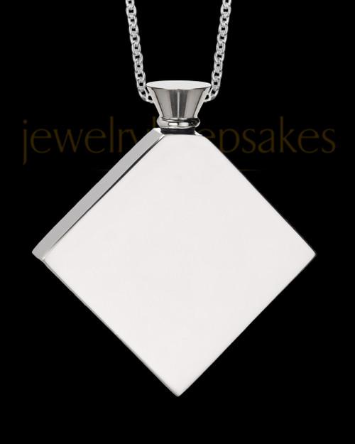 Steel Men's Beloved Diamond Cremation Pendant