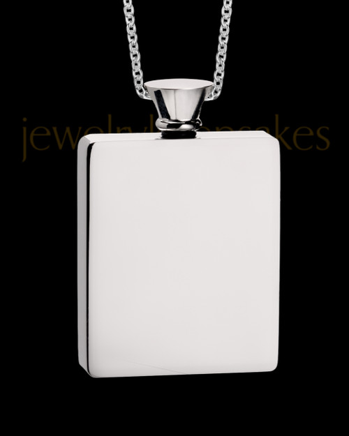 Stainless Men's Whispering Thoughts Cremation Jewelry
