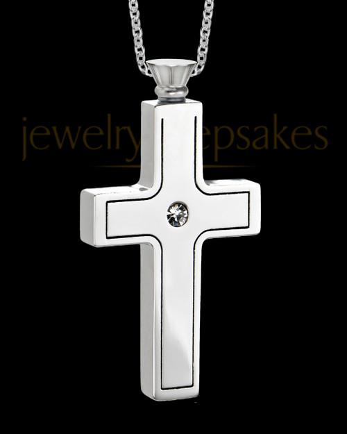 Stainless Men's Truthful Cross Jewelry Urn