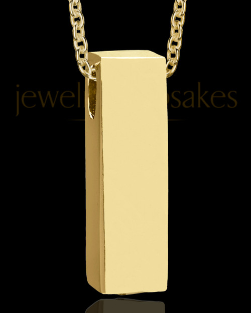 Gold Men's Classy Cylinder Urn Jewelry