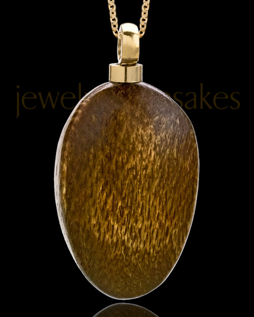Men's Large Woodland Teardrop Urn Pendant