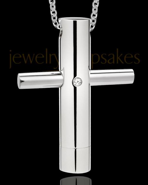 Men's Honorable Cross Stainless Urn Pendant