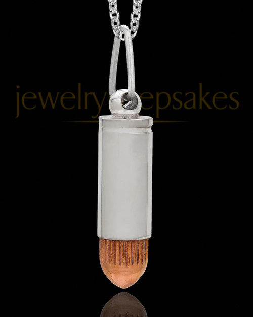 Men's Copper Tip Bullet Urn Jewelry