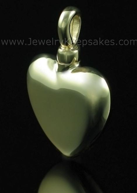 Cremains Locket Small Heart - 14K Gold