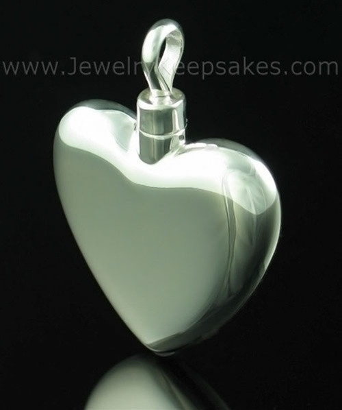 Cremains Locket Small Heart - Sterling Silver
