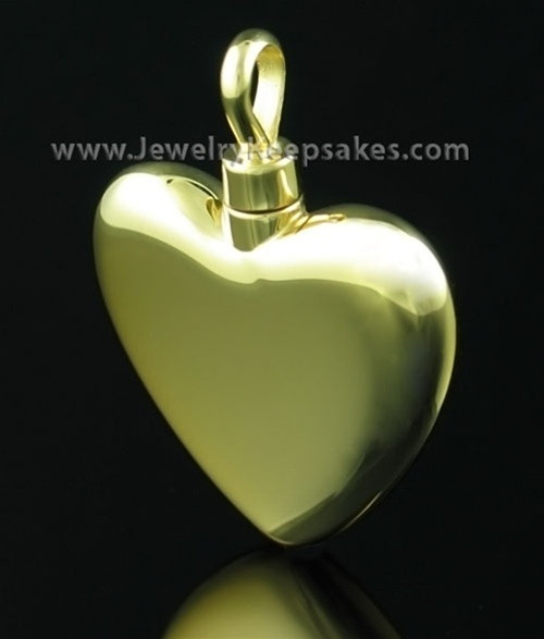 Cremains Locket Small Heart - Gold Vermeil