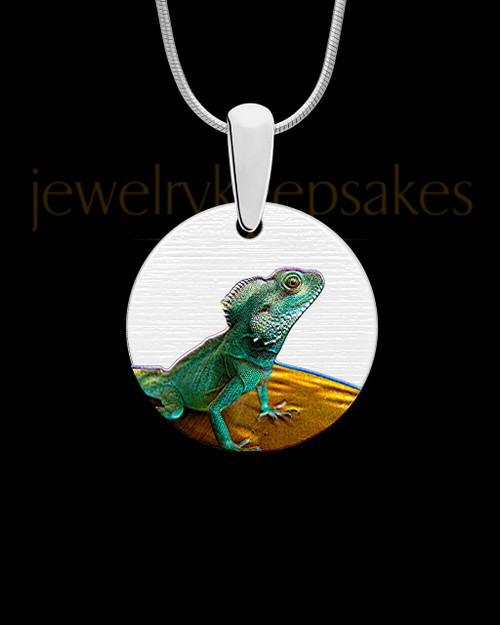 Photo Engraved Pet Full Color Round Pendant Stainless Steel