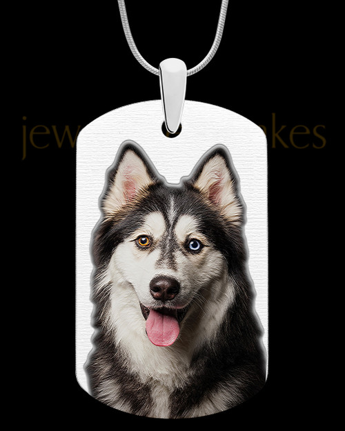 Full Color Large Dog Tag Photo Engraved Pet Pendant Stainless