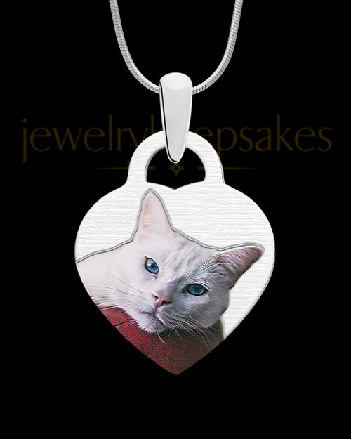 Small Heart Full Color Photo Engraved Pet Pendant Stainless