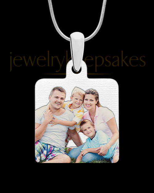 Stainless Steel Full Color Photo Engraved Square