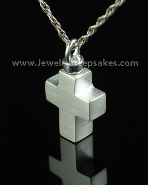 Cremation Charm Sterling Silver Mini Cross