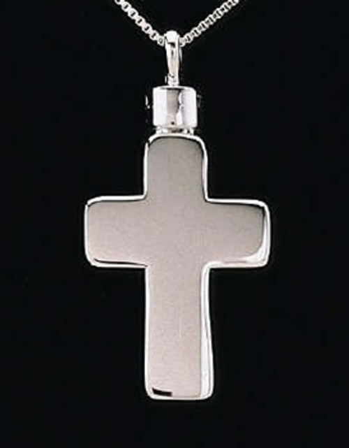 Cremains Pendant Sterling Silver Large Cross