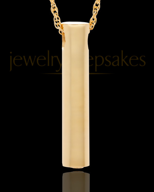 14K Gold Channel Cremation Keepsake