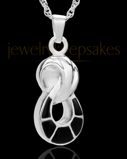 14K White Gold 2 Person Traditional Companion Infinity Ash Necklace