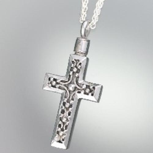 Locket Necklace Sterling Silver Filigree Cross