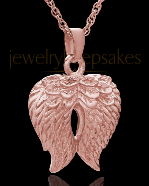 14K Rose Gold Angel Wings Keepsake