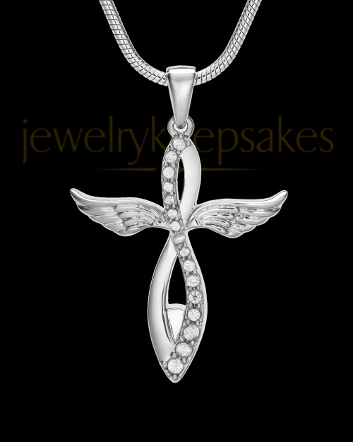 14K White Gold Glorified Cremation Jewelry