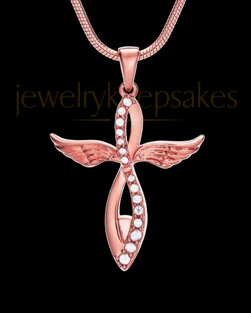 14K Rose Gold Glorified Cremation Jewelry