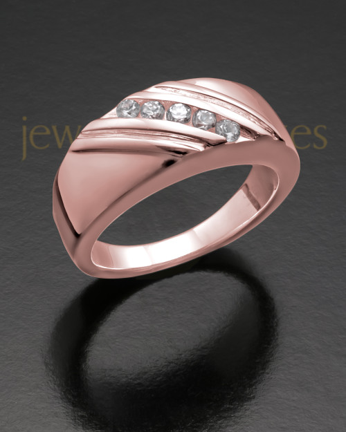 Ladies 14K Rose Gold Tender Cremation Ring
