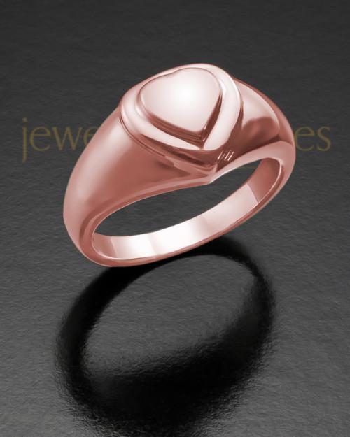 Ladies 14K Rose Gold Forever Love Memorial Ring