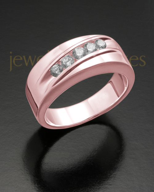 Men's 14K Rose Gold Fondness Cremation Ring