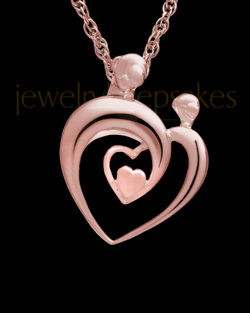 Cremation Keepsake 14K Rose Gold Heartfelt Keepsake