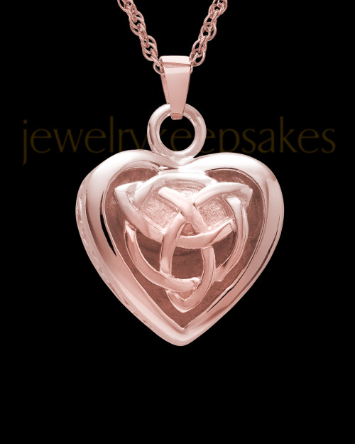 Warm and Tender 14k Rose Gold Heart Keepsake