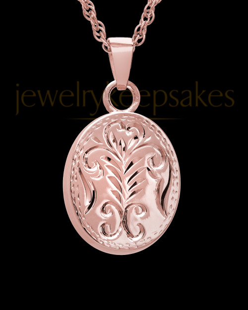 Cremation Ash Jewelry 14K Rose Gold Majesty Round Keepsake