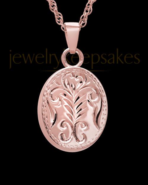Cremation Ash Jewelry 14K Rose Gold Majesty Round Keepsake