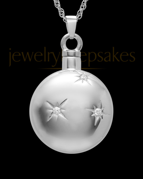 Keepsake Pendant Starburst 14K White Gold