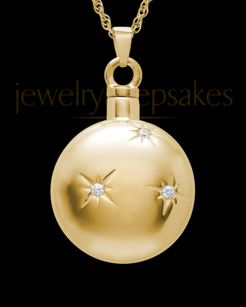 Keepsake Pendant Starburst 14K Gold