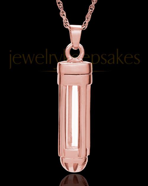 14k Rose Gold Captivating Cylinder Keepsake