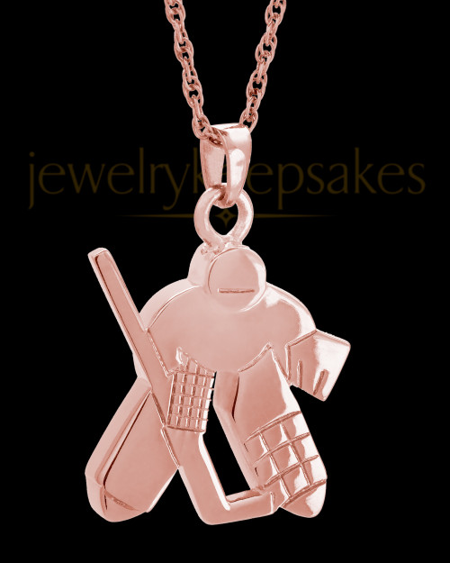 Remembrance Jewelry 14k Rose Gold Ice Hockey Keepsake