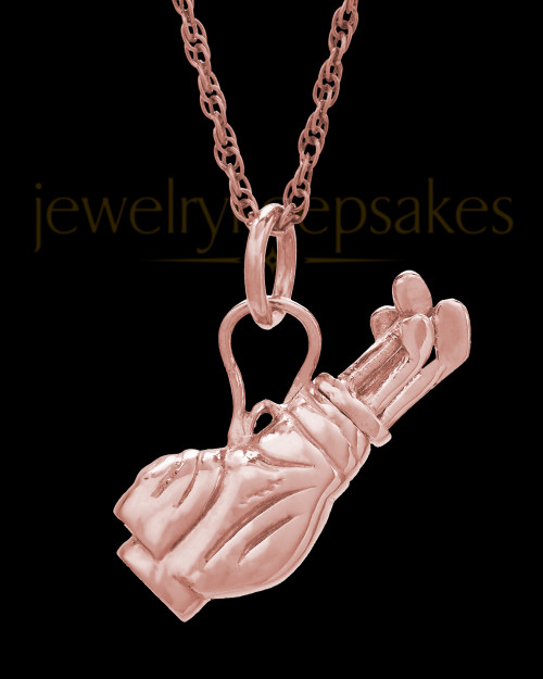 Golf Clubs 14K Rose Gold Memorial Jewelry