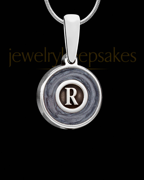 Dusky Initial Silver Ash Jewelry