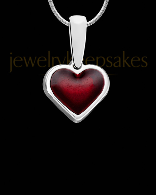 Blazing Heart Silver Ash Jewelry