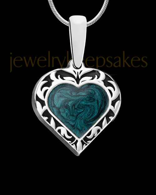 Paradise Heart Silver Ash Jewelry