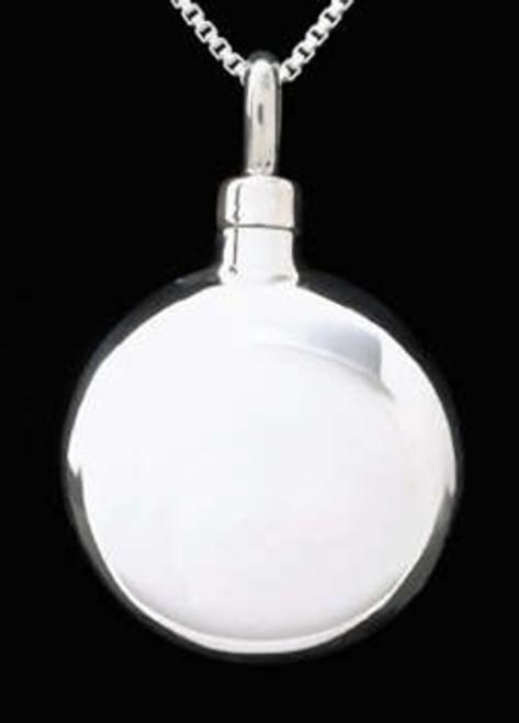 Keepsake Urn Jewelry Sterling Silver Round