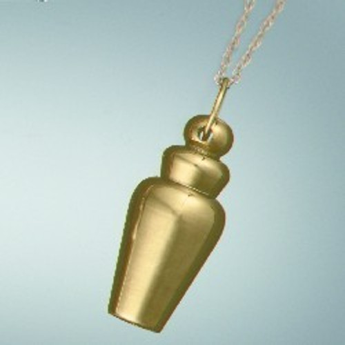Cremation Ash Jewelry Gold Plated Brass Vessel