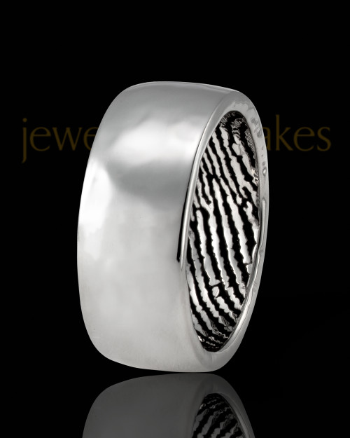 Men's Sterling Silver Hammered Thumbprint Ring