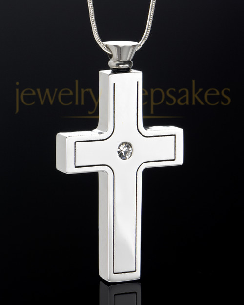 Stainless Steel Jewelry Urn Truthful Cross