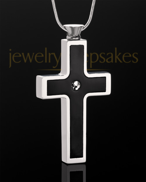 Black Truthful Cross in Stainless Steel