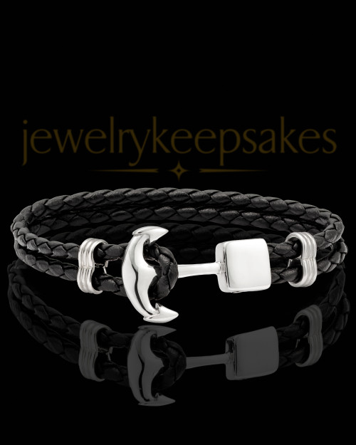 Stainless Steel Anchored Bracelet Keepsake Jewelry