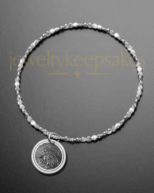 Brushed Round Thumbprint Luxury Bracelet
