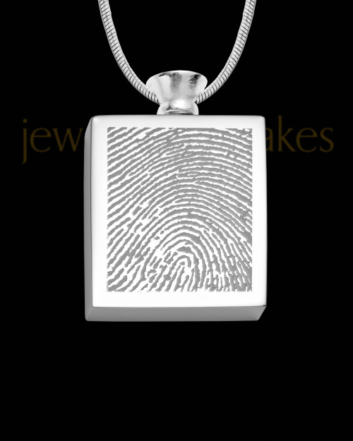 Stainless Whispering Thoughts Thumbprint Pendant