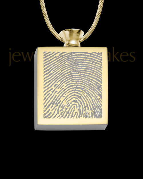 Gold Plated Stainless Whispering Thoughts Thumbprint Pendant