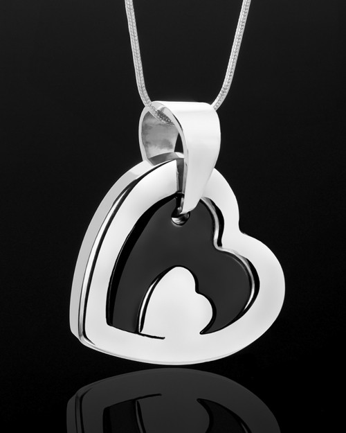 Cremation Keepsake Stainless Candid Heart