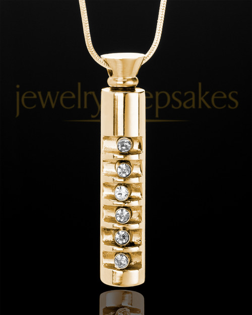 Gold Plated Miracle Cylinder With Chain