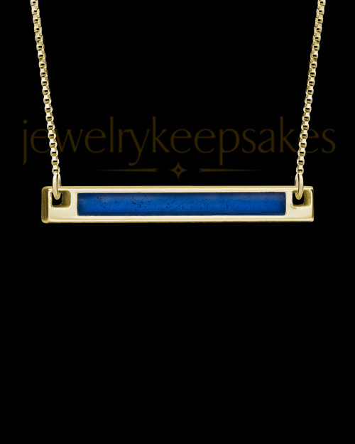 Solid 14K Gold Blue Beaming Ash Jewelry