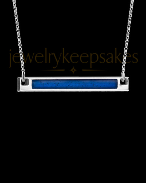 Solid 14K White Gold Blue Beaming Ash Jewelry